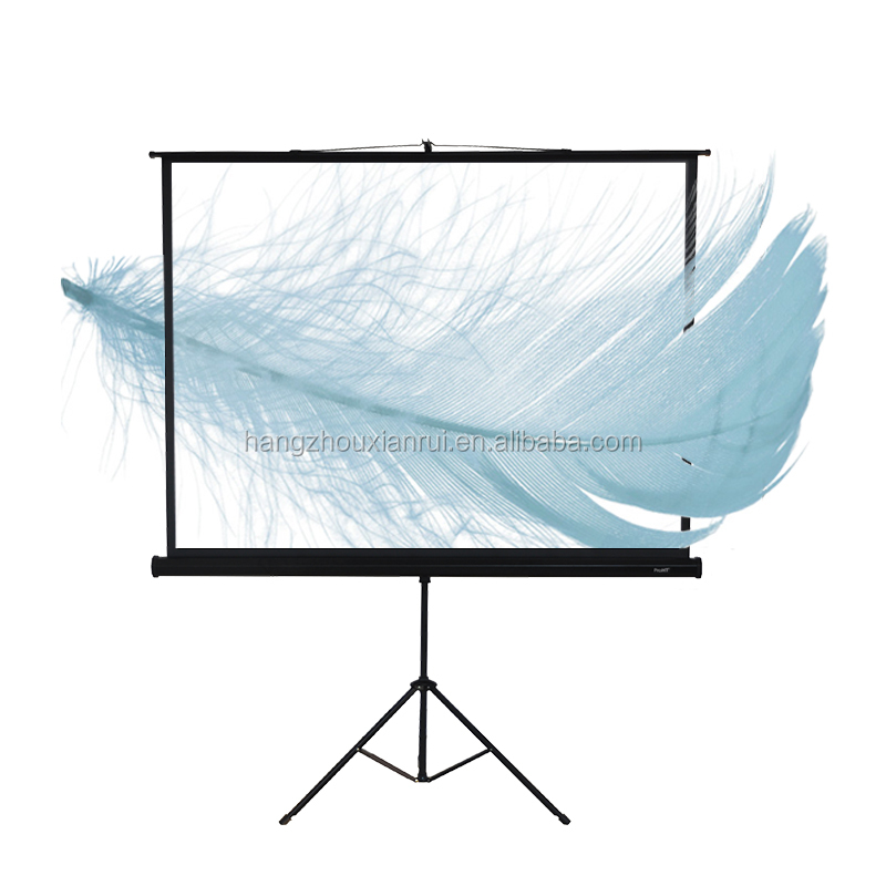 1080p Projection Tripod Screen with Ratio White Plastic Tripod Projector Screen for Portable Projector