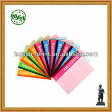 high quality colorful perfect binding note pads printing /customized note pad printing