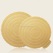 Gold Round Square 4/6/8/10/12 inch Cake Board Scalloped Edge Birthday Cake Base boards tray