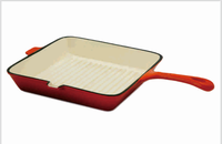 ENAMEL CAST IRON COOKARE GRIDDLE PANS
