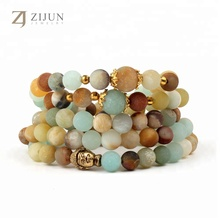 108 Frosted Amazon stone beaded multi layer handmade fashion Buddha Bracelet jewelry
