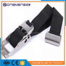 Full stainless steel aircraft buckle 4 point seat safety belt