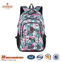 Lastest style Black Customized 1680D outdoor trendy sexy girls school bag/.