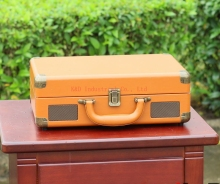 OEM with MP3 converter portable Antique suitcase turntable