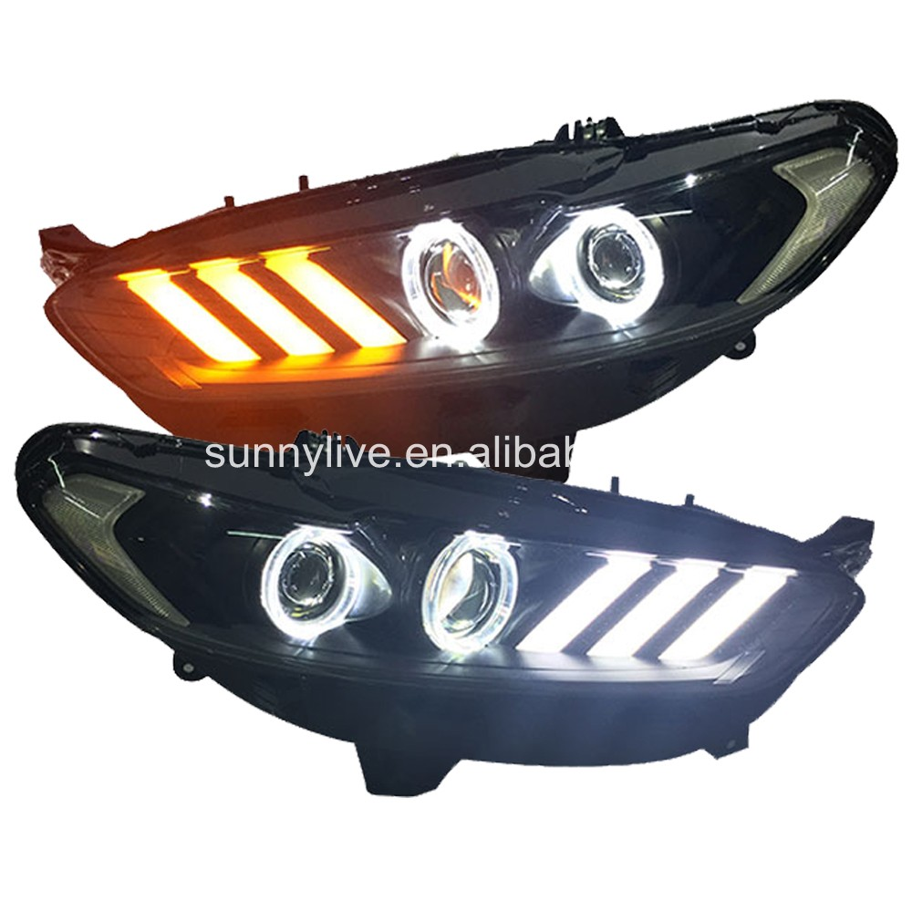 For FORD Fusion Titanium for Mondeo LED Head Lamps LED Light for Mustang style JC