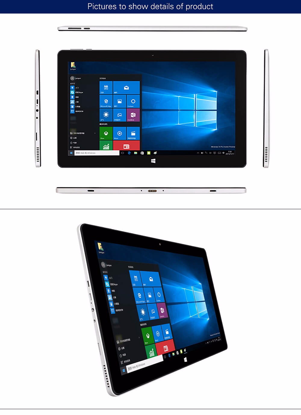 Jumper EZpad 6 Tablet 11.6 inch Windows10 4GB/64GB Intel Atom X5 Z8350 Quad Core 1.92GHz IPS 1920*1080