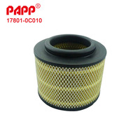 Hot sale car air filter for fortuner oem 17801-0C010