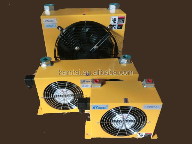 Industrial Hydraulic Plate Fin type Forced Air Oil Cooler For Hydraulic Power System
