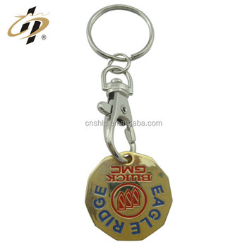 Factory brass wholesale custom deboss gold metal car keychains