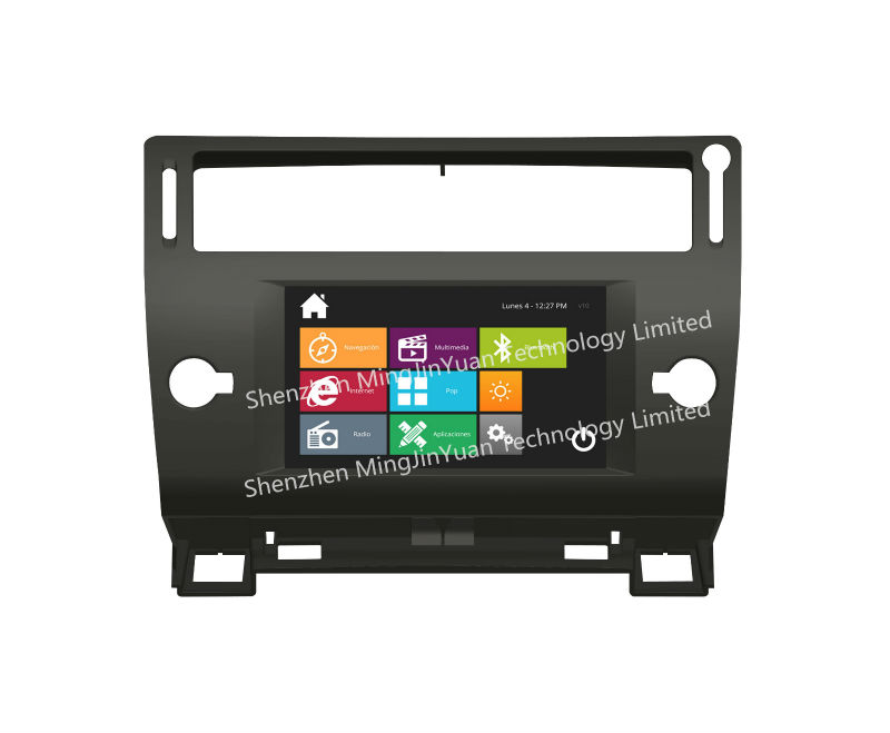 Car DVD player with GPS for Citroen C4 with design similar to Windows8