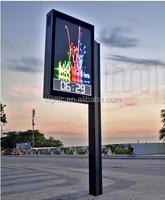 Outdoor Street Video LED Signs Full Color Module Waterproof Billboard P6 Lamp Pole Advertising LED Sign Board