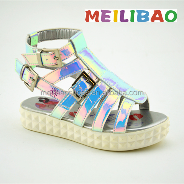 2016 latest Specialized Children simple girls high heel sandals Shoes in China