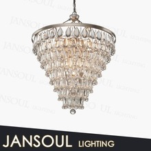 2015 promotional beautiful high quality hot sale birdcage conical blown coloured crystal glass chandelier for sale