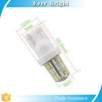 colorful T10 3014 24smd silica wedge base t10 led bulb auto bulb lamp t10
