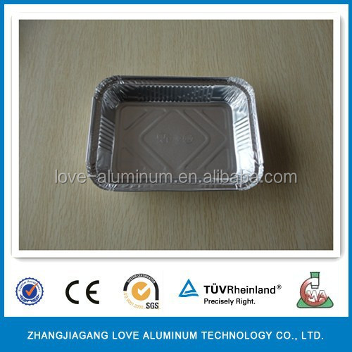 Disposable Rectangle Aluminum Foil Serving Trays With Alu Cardboard Lid Disposable Cardboard Trays