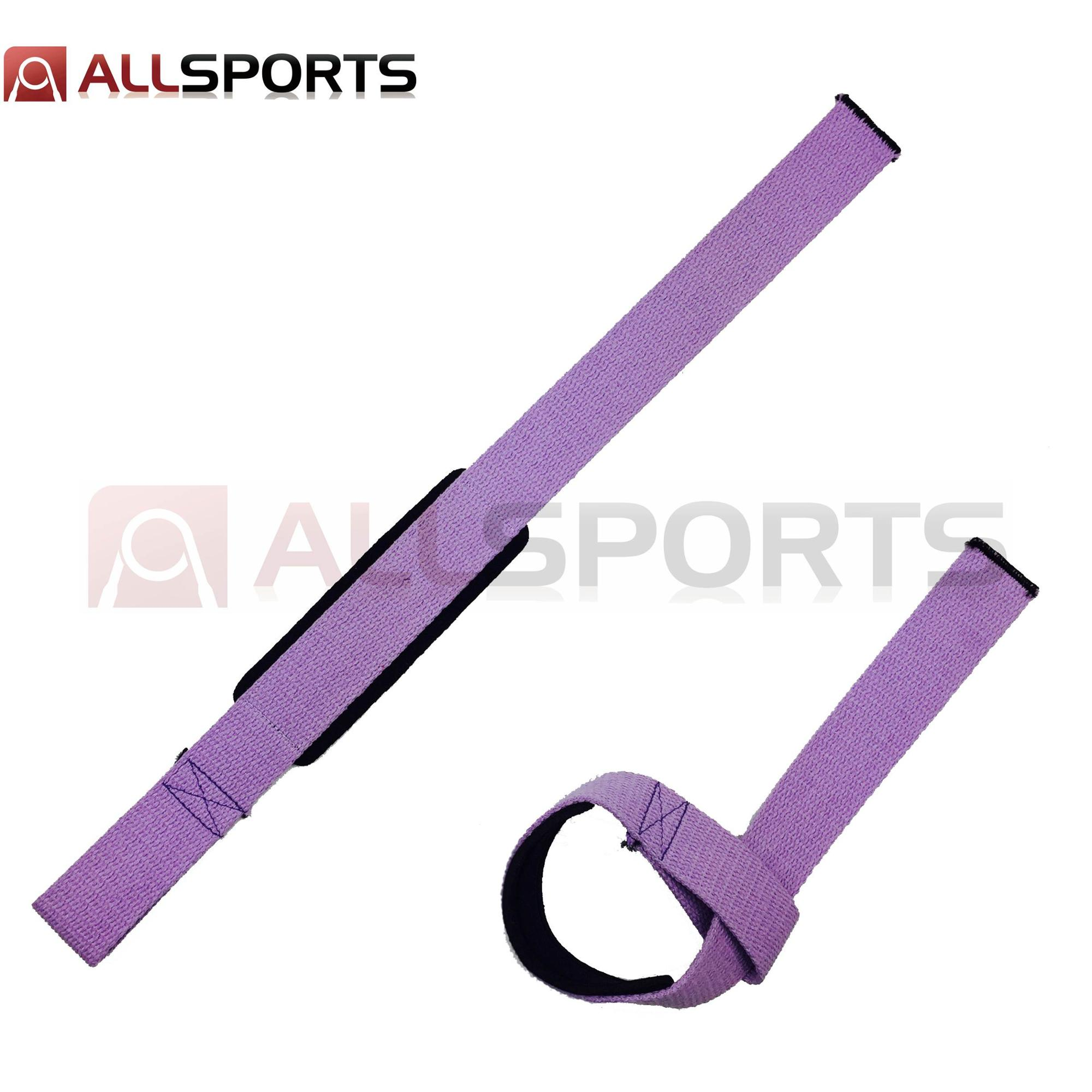 Padded Cotton Weight Lifting Strap with neoprene padding for Strength Training