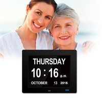 Amazon Hot selling 8 inch digital calendar digital clockdementia clock for elderly