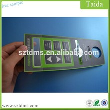 6 Raised Button Membrane Keyboard With Die Cutting Window