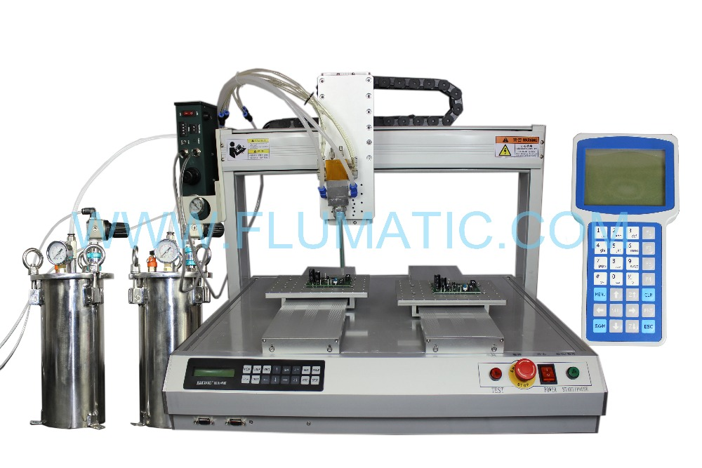 Dual Station Benchtop AB glue Automatic Dispensing Robots LCD