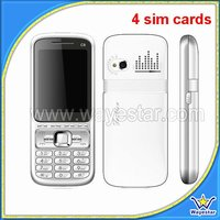 4 sim card handphone Analogy TV mobile phone gsm quadband cheap bar phone