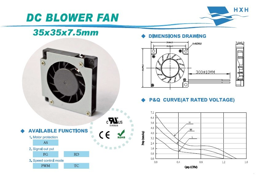 35x35x7mm blower fan 3507 small squirrel cage fans
