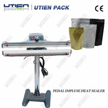 Hands free pedal impluse heat sealer