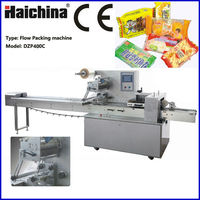 Pillow Multifunction Food / Cookies Packaging Machine With Plastic PVC