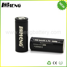High drain MENG 26650 5000mAh rechargeable battery 3.7v 60amp li ion cells continuous 30A discharge 26650