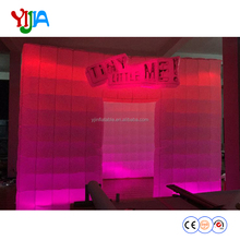 Trade show equipment lighting inflatable photo booth with led
