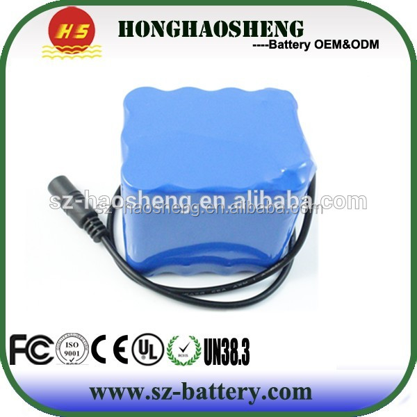 Long Cycle Times Lithium 14.8V Li ion Battery Pack With BMS