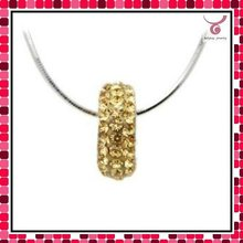 handmade crystal Disco beads pendant with 925 silver necklace chain