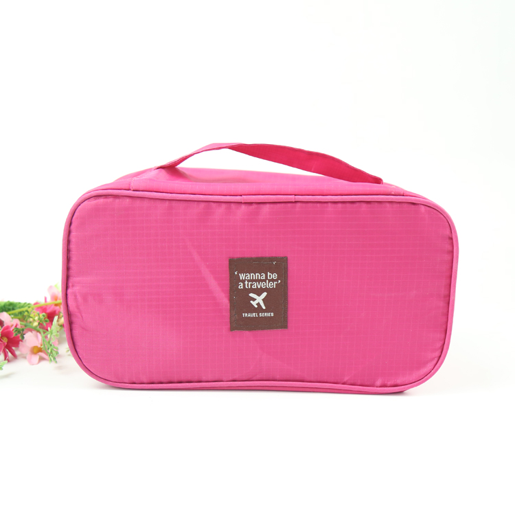 New design Printed Fashion pink Travel ladies cosmetic bag