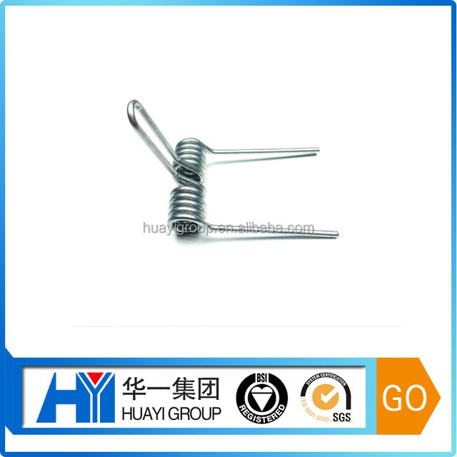Custom OEM Spring Steel double torsion Spring with zinc plated supplier