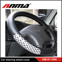 ANMA high quality PVC material 38cm universal car steering wheel cover
