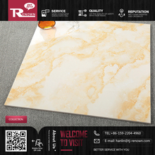 Promotion off yellow ceramic floor tile Imitation marble texture