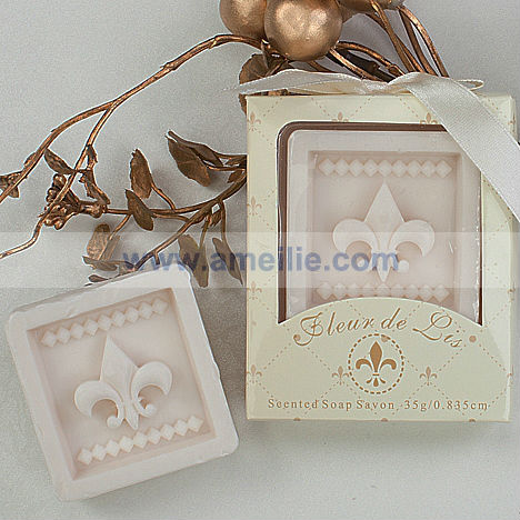 AS005 Wedding Supplies Fleur-de-Lis Scented best bath soap in india