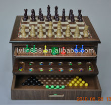 2018 10 in 1 chess game set, Family Game Set, Traditional Game Collection Made in China