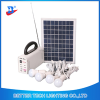 Factory Manufacture 10W Home Solar Products Solar Home Light System with 7Ah Battery and 4pcs led bulbs