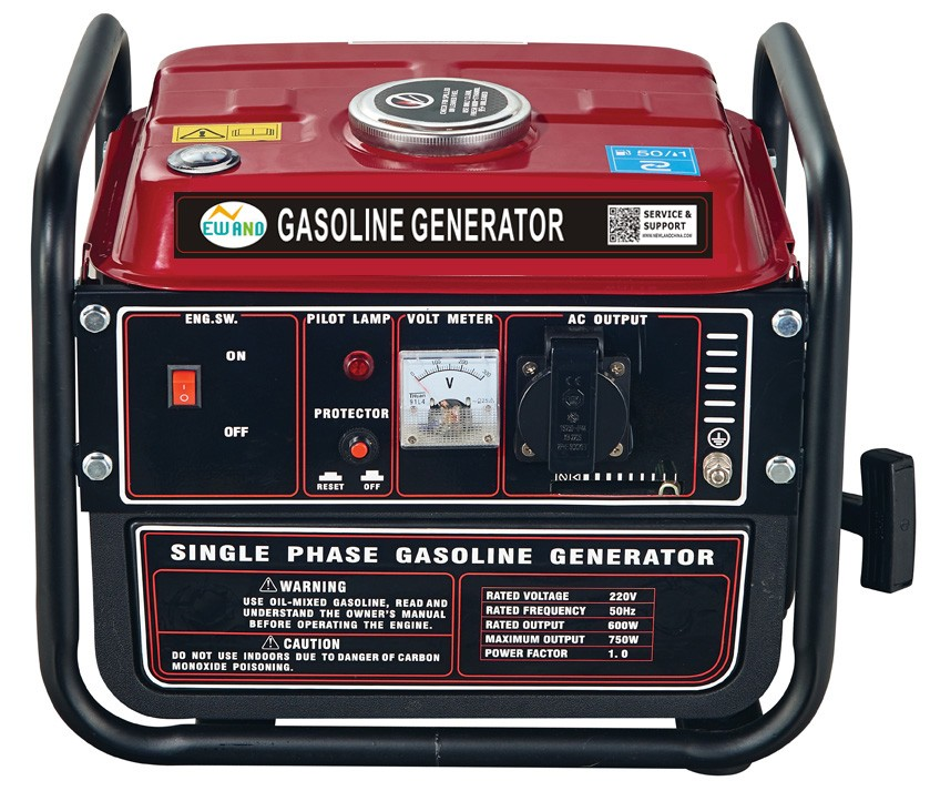 650W portable gasoline generator with frame NL950A 3000rpm 50 or 60HZ AC single phase 1 cylinder 2 stroke air cooled engine