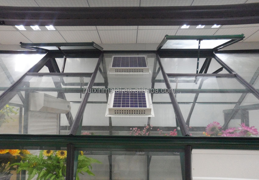 Energy saving greenhouse ventilation solar powered outdoor fans