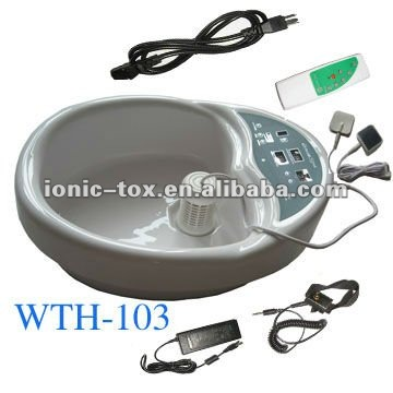 Detox basin massage machine with remote control foot pedicure spa