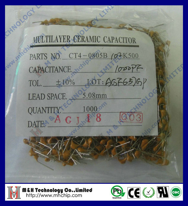 Ceramic dip capacitor 102K 50V dip multilayer ceramic capacitor