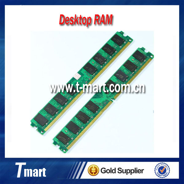 100% working and high quality original 4GB 2x2GB DDR2-800 PC2-6400 800MHZ 240pin desktop memory