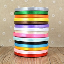 Hot sale 6MM eco-friendly Ribbon Gift Box Decoration satin Ribbon