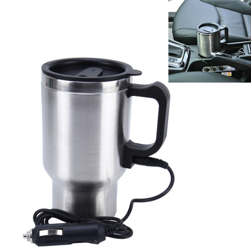 Stainless Steel Electric Smart Mug 12V Car Electric Kettle Heated Mug Coffee Cup With Charger Cigarette Lighter Water Heater Mug