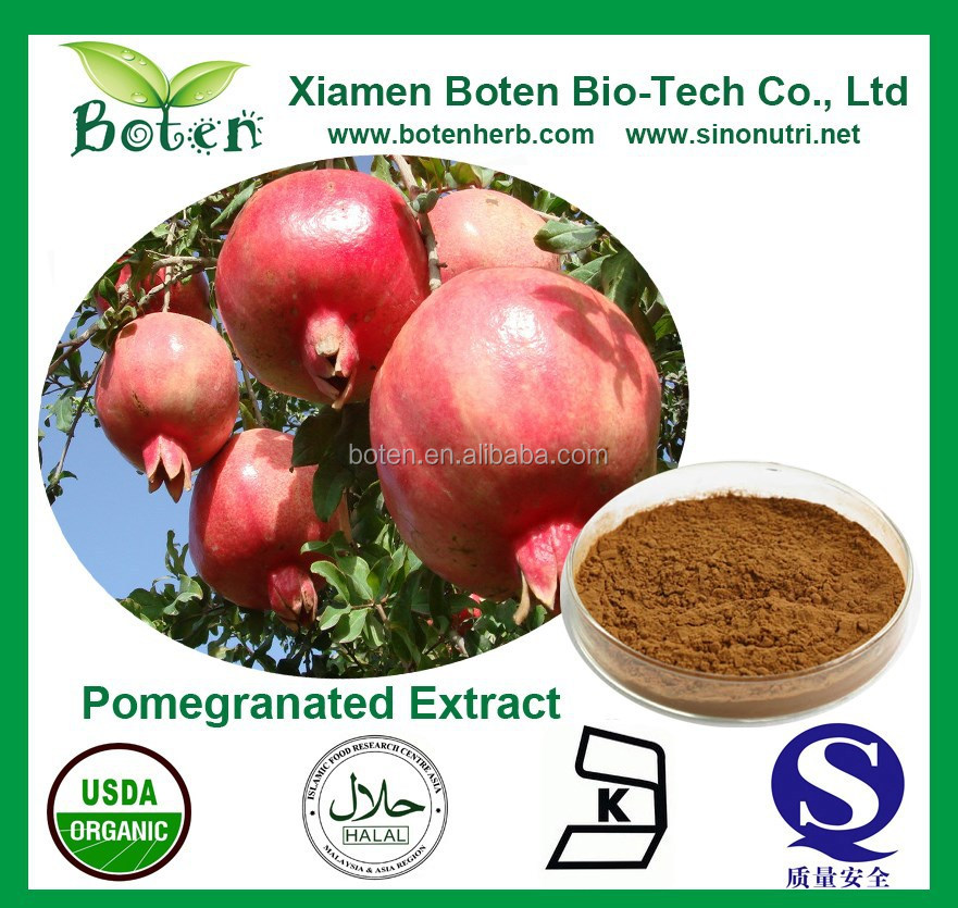 High Quality 10%-90% Ellagic Acid/Polyphenols/Punicalagin Pomegranated Peel Extract Powder