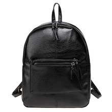 Stylish Solid Zipper-Up Closure Snakeskin Print Synthetic Leather <strong>Backpack</strong>