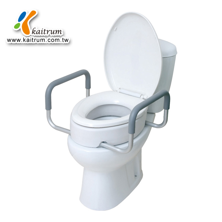 Katirum Bathroom Elder Disable with handle raised toilet seat