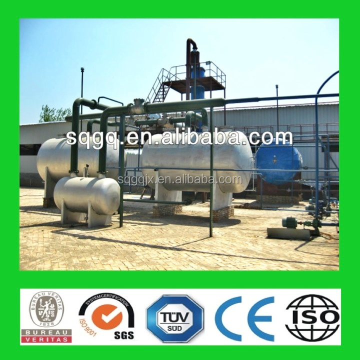 HOT! tire pyrolysis oil refine machine with CE ISO SGS environment friendly
