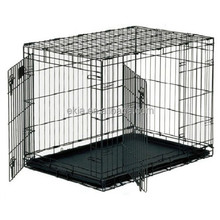 2 Door Pet Wire Dog Cage Kennel Play Pen Heavy Duty Dog